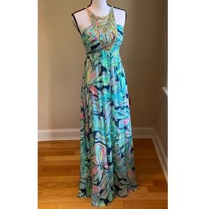 Lilly Pulitzer Lannette Maxi Dress Dancing Lady 0